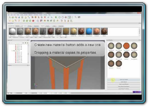 Material management in SimLab Composer