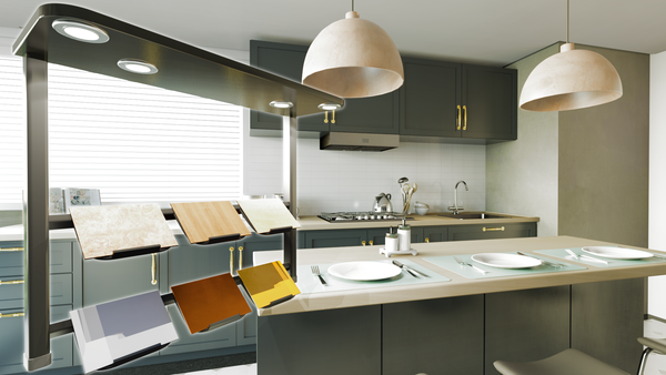 Kitchen with VR technologies