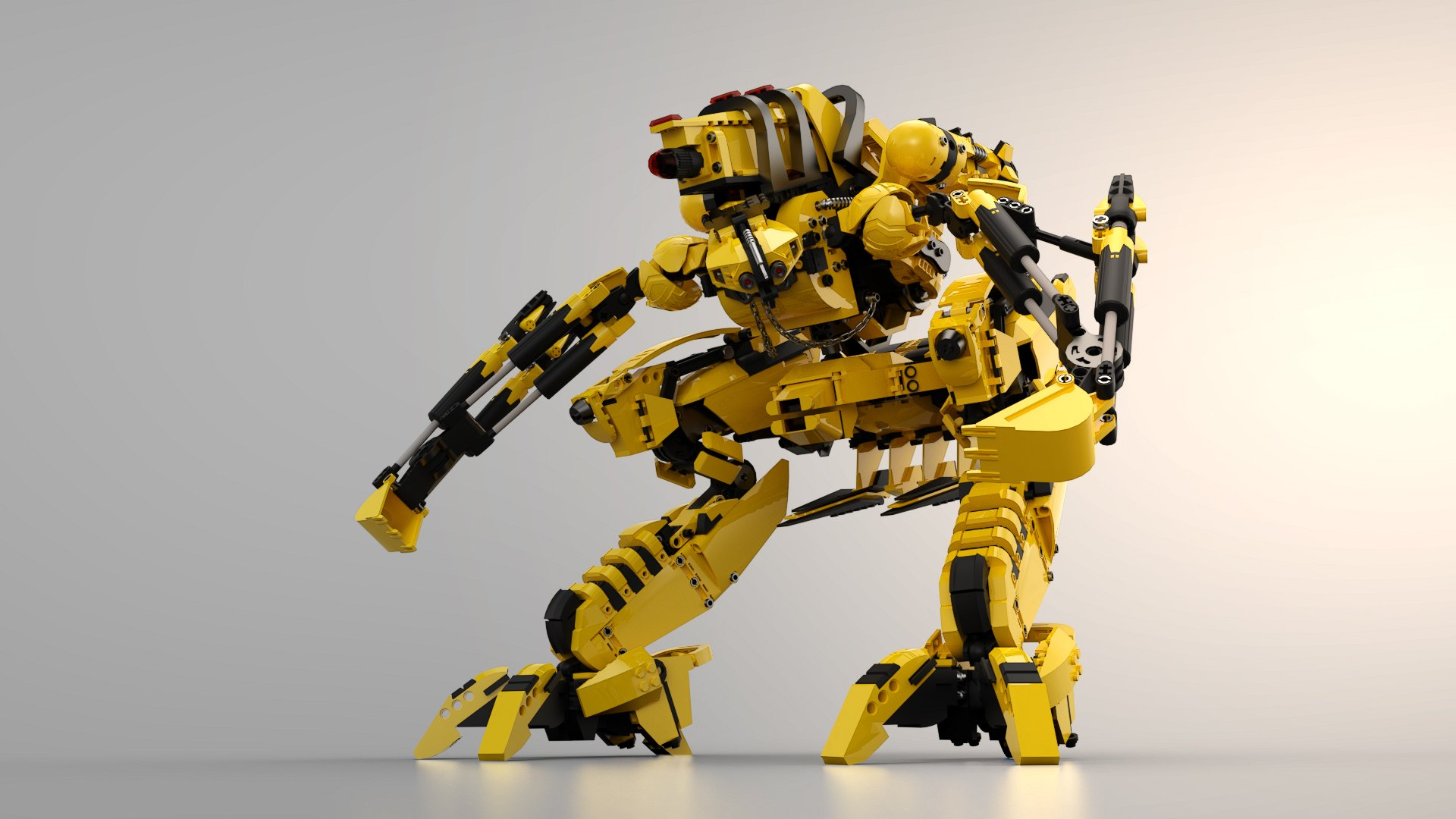 Rendered Yellow Robot