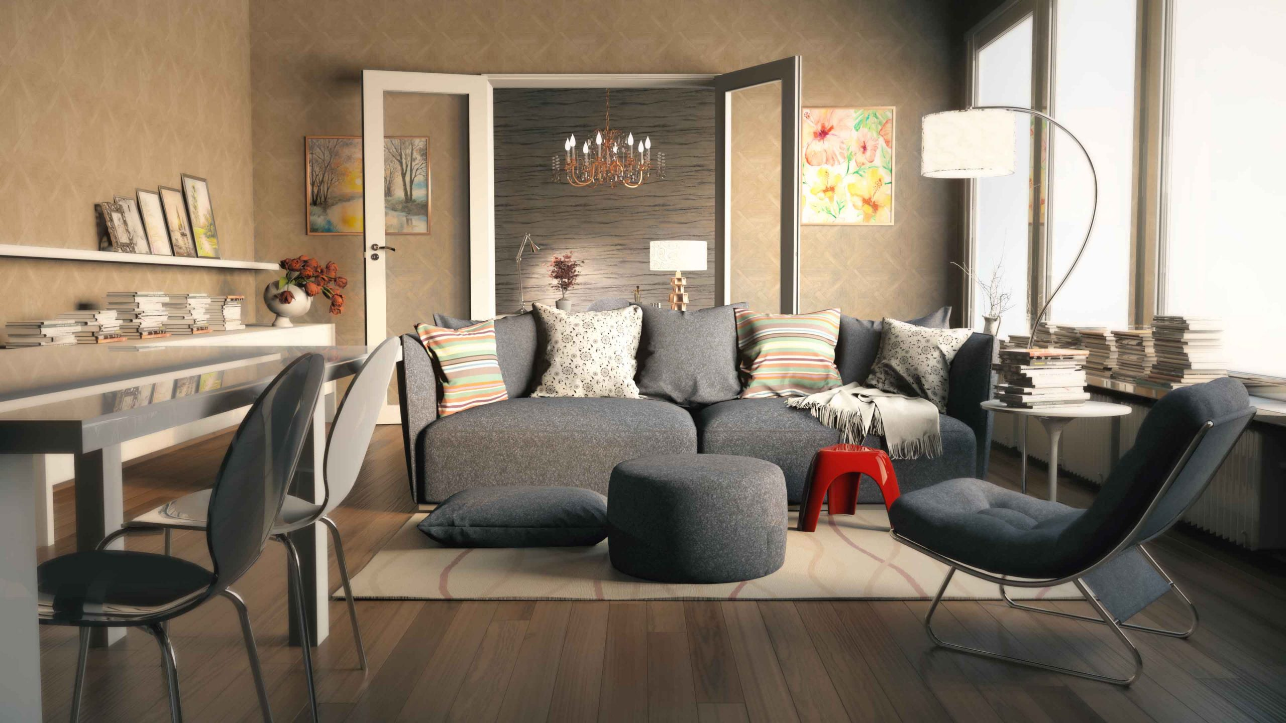 Rendered Living Room