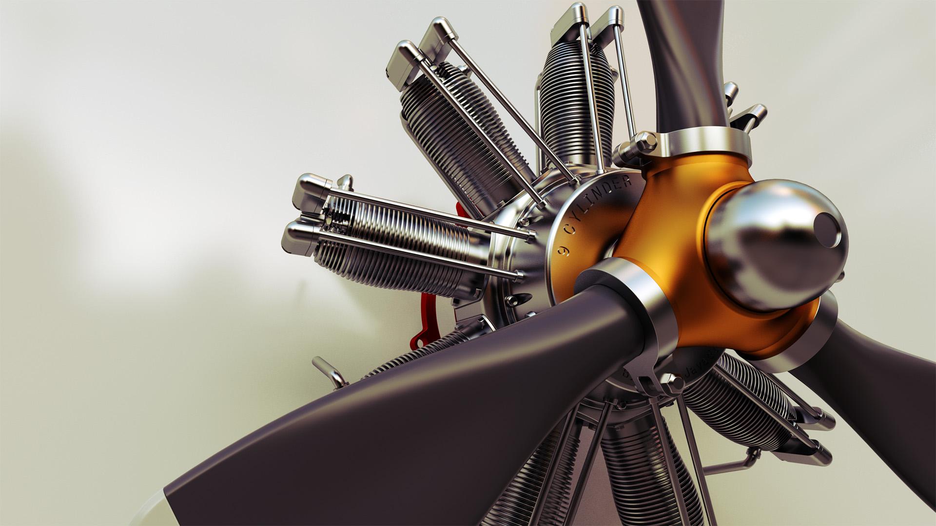 Mechanical Engine Rendering