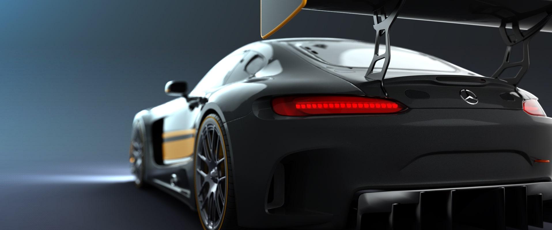 Black Car Rendering