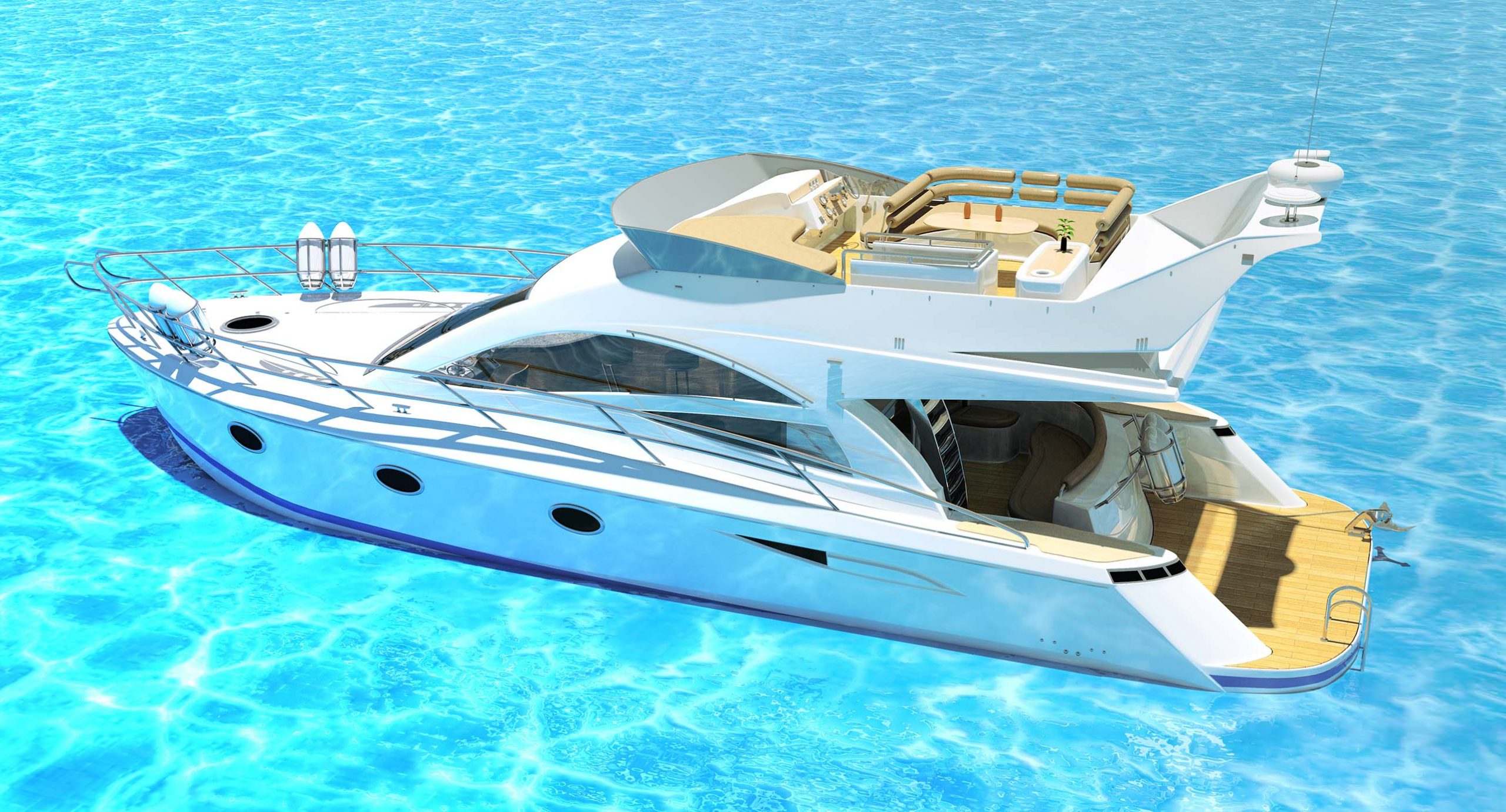 Boat and sea Rendering
