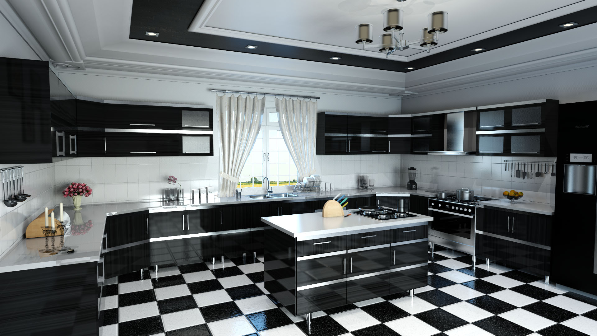Kitchen Scene Rendering