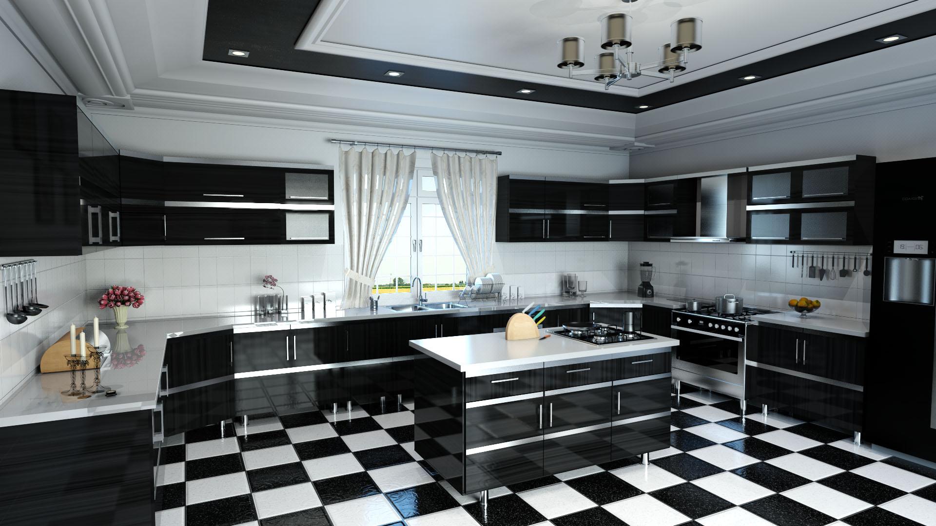 Kitchen Scene Rendering