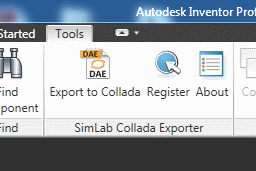 SimLab Collada Exporter for Inventor x64 screenshot