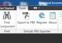 SimLab Fbx Exporter for Inventor x64 screenshot