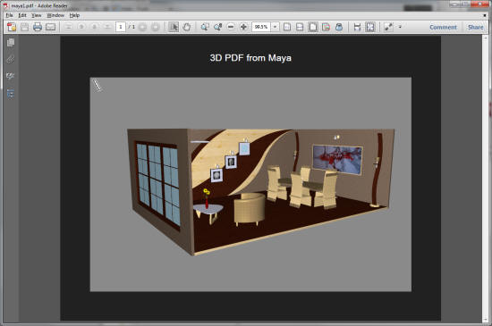 Simlab 3D Plugins - 3D PDF from Maya