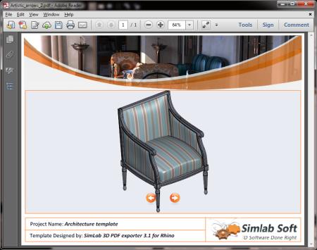 SimLab 3D PDF Exporter for Rhino x64 full screenshot