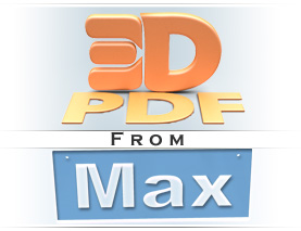 3D PDF from 3ds max logo