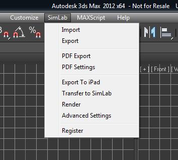 Simlab 3D Plugins - SimLab plugin for 3ds Max