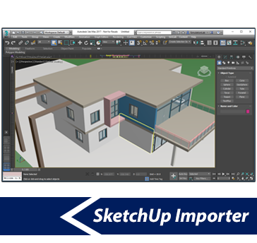 Simlab 3d plugins sketchup importer for 3ds max for Sketchup import