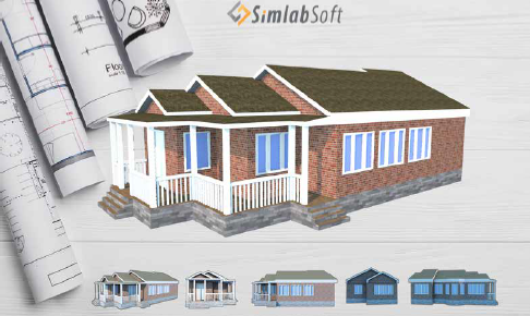 SimLab 3D Products - SimLab architects use case on sample database, sample doc, sample software,