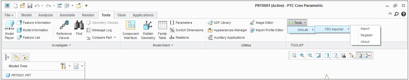 Simlab 3D Plugins - FBX importer for Creo