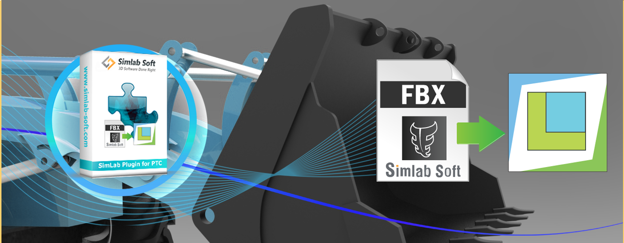 Simlab 3D Plugins - FBX importer for Creo