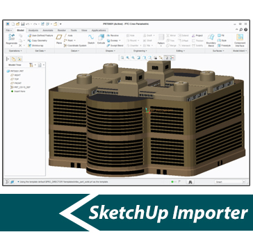 Simlab 3d plugins sketchup importer for creo for Sketchup import