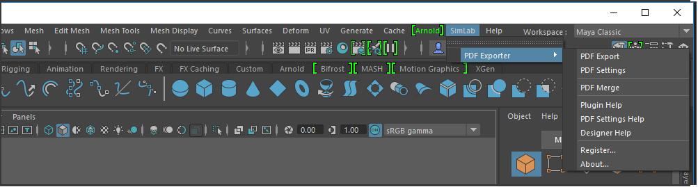 Simlab 3D Plugins - 3D PDF exporter for Maya
