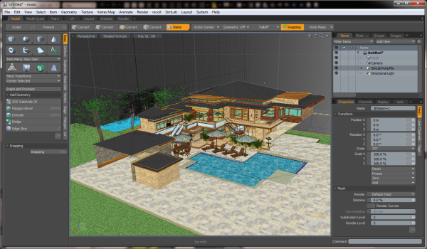 Simlab 3d plugins sketchup importer for modo for Sketchup import