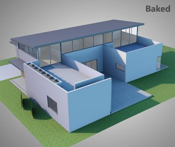 Texture Baking - Example 2 (House Model) - Simlab Composer 3d Application