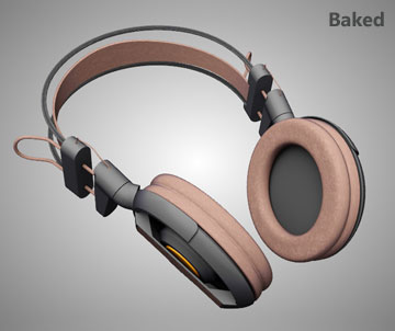Texture Baking - Example 3 (Headset Model) - Simlab Composer 3d Application