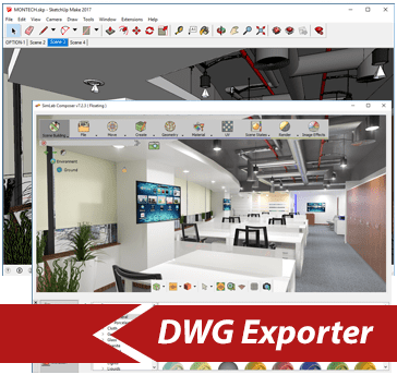 Simlab 3D Plugins - DWG exporter for Sketchup