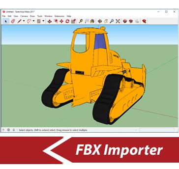 Simlab 3D Plugins - FBX importer for SketchUp
