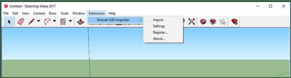Simlab 3D Plugins - IGES importer for SketchUp