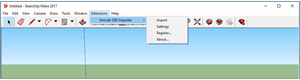 Simlab 3D Plugins - OBJ importer for SketchUp