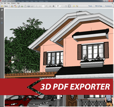 Simlab 3D Plugins - 3D PDF exporter for SketchUp