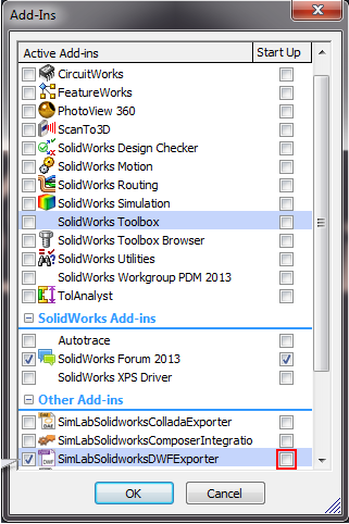 Simlab 3D Plugins - DWF exporter for SolidWorks