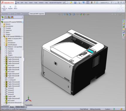 SimLab DWF Exporter for SolidWorks x64 screenshot