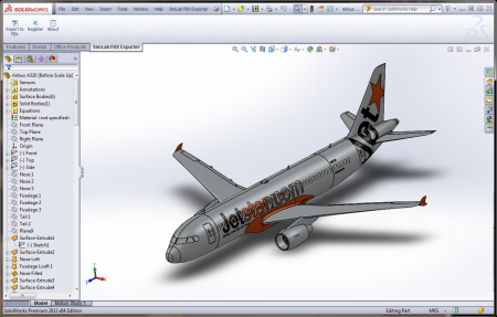 SimLab FBX Exporter for SolidWorks x64 screenshot