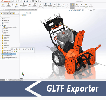 Simlab 3D Plugins - Gltf exporter for SolidWorks