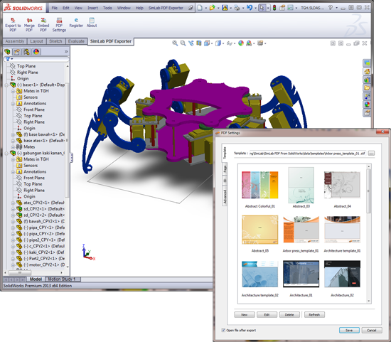 Windows 7 SimLab PDF Exporter for SolidWorks x64 3.0 full
