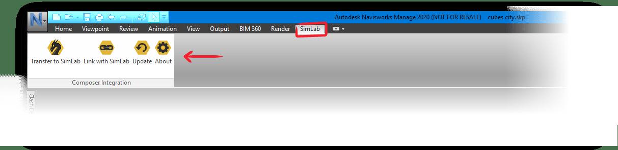 Simlab 3D Products - Simlab Composer Integration with Navisworks