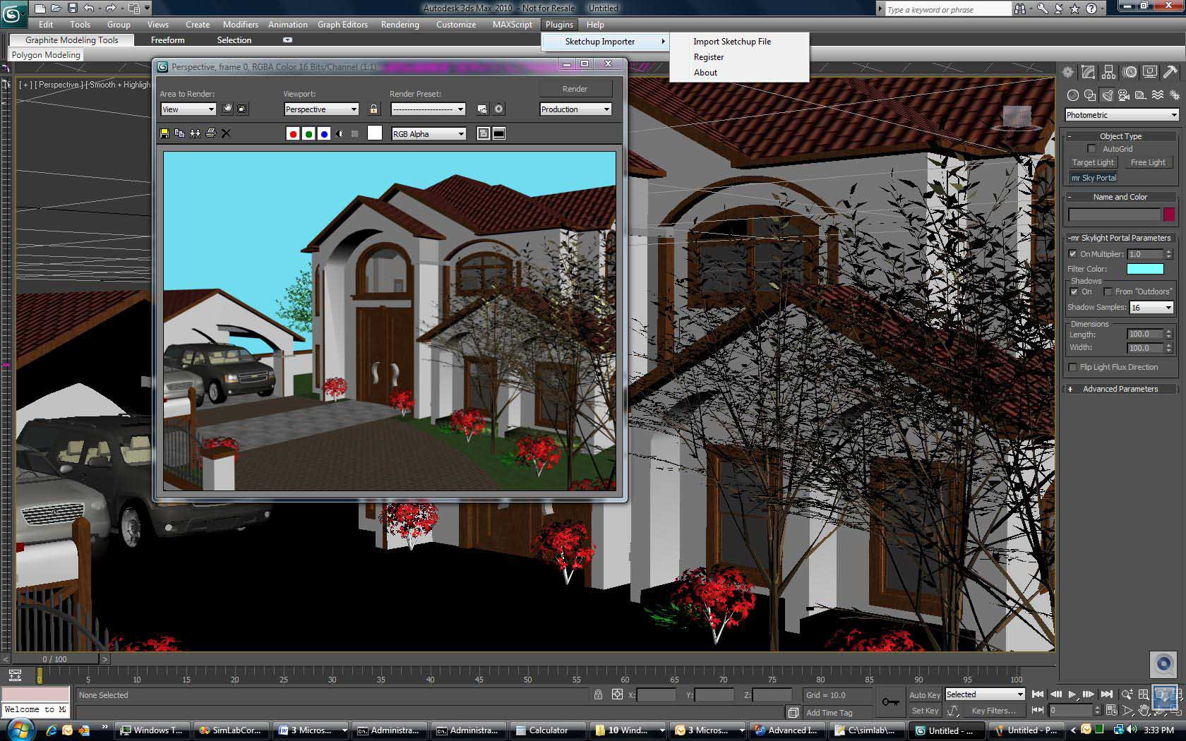 Simlab 3d Plugins Sketchup Importer For 3ds Max