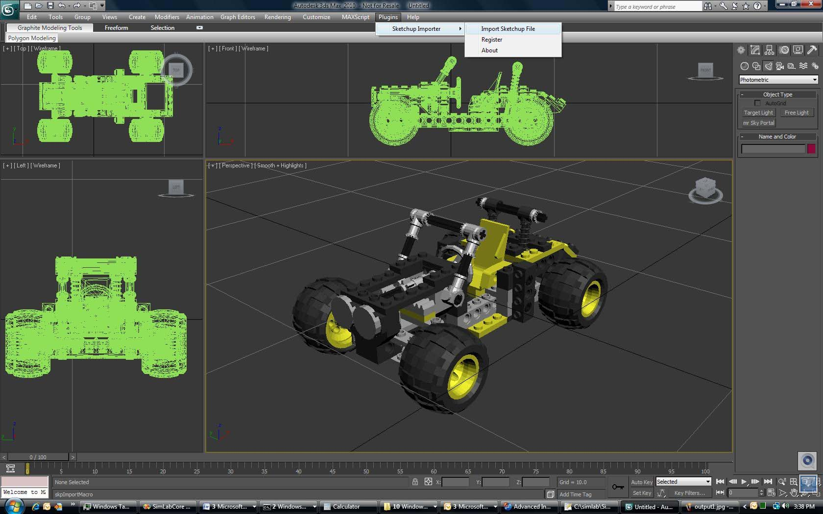 Simlab 3D Plugins - SketchUp importer for 3ds Max