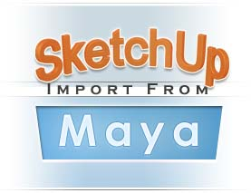 SketchUp import from Maya logo